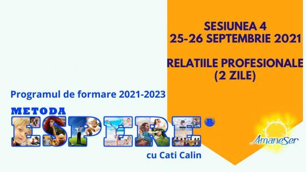 Sesiunea 4 25-26 septembrie 2021 Relatiile profesionale (2 zile)