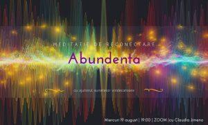 Abundenta | meditatie cu sunete vindecatoare sustinuta de Claudia Jimeno